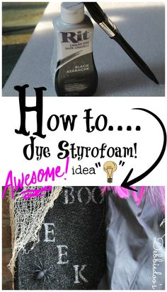 How to dye Styrofoam. #Makeitfuncrafts with #ritdye.