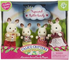 Calico Critters Hopscotch Rabbit Family - Free Shipping