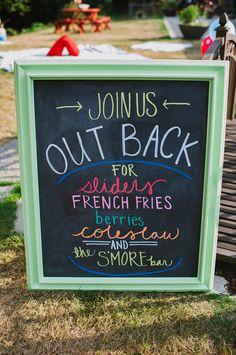 Backyard picnic sign {lancaster lane}