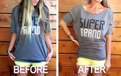 Dolman Sleeve Top   29 Ways To Makeover A Boxy Men's T-Shirt