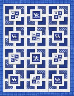 University of Kentucky Unfinished Lap Quilt by KountreeCreations