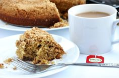 Banana Coffee Cake with Peanut Butter Streusel... only 208 calories and made with whole wheat pastry flour!