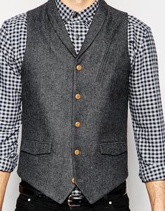 Find the best selection of ASOS Vest in Herringbone with Shawl Collar. Shop today with free delivery and returns (Ts&Cs apply) with ASOS! Herringbone, Fashion Online, Latest Trends, Asos, Men Sweater, Shawl, Sweaters, Jackets, Stuff To Buy