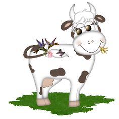 Funny Farmyard Cows Clip Art Images Are On A Transparent Background