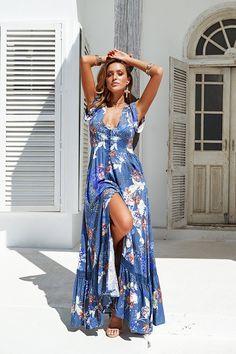 Jaase - Cinque Terra Maxi Dress (Blue)