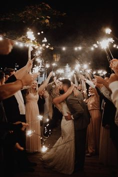 Romantic + dreamy sparkler wedding exit moment we're crushing on Wedding Send Off, Wedding Exits, Wedding Goals, Wedding Ceremony, Wedding Planning, Dream Wedding, Gown Wedding, Wedding Cakes, Wedding Ideas