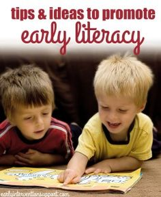 Here are 6 encouraging tips to promote early literacy with infants and toddlers Early Childhood Activities, Early Childhood Education, Literacy Activities, Toddler Activities, Alphabet Activities, Baby Programs, Social Emotional Development, Literacy Programs, Early Literacy