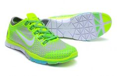 Nike Free TR Fit Mens Training Shoes Gray Fluorescence Green