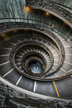 Spiral Staircase, Vatican, Rome, Italy - Furkl.Com
