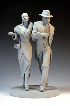 """""""Steppin' out"""" by *MarkNewman. Art Dolls --- Not sure if they're to be painted, but i love the attitude."""