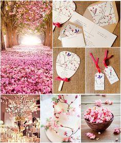 Wedding favors for principal sponsors cherry blossoms Trendy ideas Japanese Party, Japanese Wedding, Japanese Theme Parties, Wedding Favors For Principal Sponsors, Bridal Shower Decorations, Wedding Decorations, Cherry Blossom Party, Cherry Blossoms, Princesa Mulan