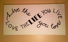 Painted Canvas Word Art on Etsy, $10.00