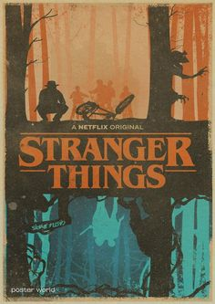 Stranger Things Retro Poster