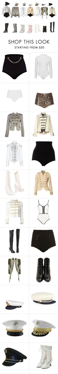"""white"" by yonce4park ❤ liked on Polyvore featuring River Island, Topshop, French Connection, CO, Pinky Laing, SPANX, Rochas, Denim & Supply by Ralph Lauren, Muveil and Oh My Love"