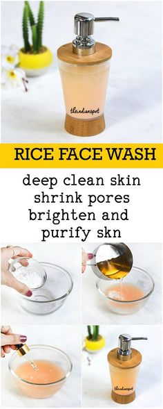 RICE FACE WASH for clear and bright skin