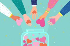 Concept of charity and donation. Give and share your love to people. Hands holding a heart symbol and put hearts in a glass jar with hearts. Charity Poster, Weird Drawings, Donate To Charity, Employee Engagement, Drawing Skills, Heart Art, Cute Illustration, Royalty Free Images, Pattern Design