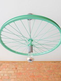 Pendant Lighting – Bike wheel pendant lamp – a unique product by Good-Lights on DaWanda