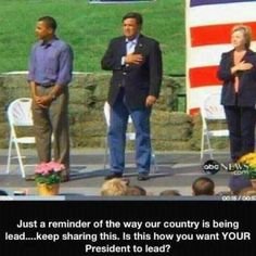 Thank you Mr.President - This says it all.  He has NO respect for our flag or our Country, and he DAMN sure dont care about our men & women dieing for our Country & for that flag. No more Oboma, go back home to Kenya where you belong. They need you more than we do!