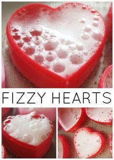 Fizzy Heart Eruptions Valentine's Science Sensory Activity