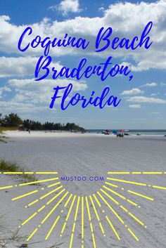 Coquina Beach is the longest stretch of beach on the southern end of Anna Maria Island on the Gulf of Mexico in Bradenton, Florida. #BeachVacation