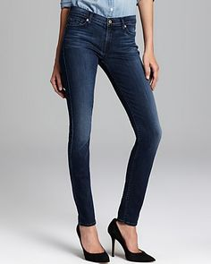 7 For All Mankind Jeans - The Skinny in Dark Cobalt Blue | Bloomingdale's $189