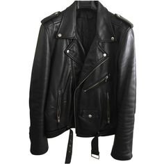 Pre-owned Blk Dnm Leather Jacket ($783) ❤ liked on Polyvore featuring men's fashion, men's clothing, men's outerwear, men's jackets, black, men clothing jackets, mens real leather jackets and mens leather jackets