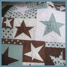 Cute Boy Quilt -pink for a girl. Lime green neutral