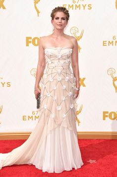 Actress Anna Chlumsky attends the 67th Annual Primetime Emmy Awards at Microsoft Theater on September 20, 2015 in Los Angeles, California.