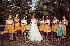 in love with the bridesmaids dresses!   Photo by Sara & Rocky Garza