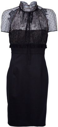 {lace detail} dress #black