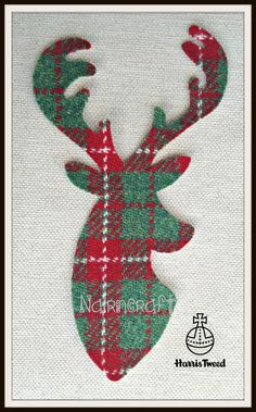 Thanks for looking and hopefully you will bag a bargain. This is for 1 piece of Red, White & Green Multi Coloured Woven Harris Tweed Wool Fabric, Die Cut, Reindeer Stag HEAD Style No 1. There is 1 x Approximately 8 inch High by 4 1/4 inches Wide and Are Iron On. Can face to the Left Or Right. ( Please Choose your preference ) Just peel off the backing paper. They are Red, Green & White Large Plaid Check as the one in the picture although may not be exact pattern... Very low price. They a...