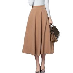 Plus Size Autumn Winter Skirts New Fashion Midi Long Skirt Faldas Mujer Women Elastic High Waist Casual Maxi Pleated Skirt Saias-in Skirts from Women's Clothing & Accessories on Aliexpress.com | Alibaba Group