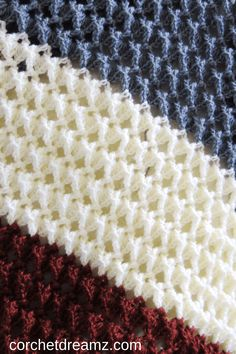 Free crochet afghan pattern with a beautiful texture - Crochet Dreamz,Do you love crochet blanket patterns that are quick to work up? Then you will love this stitch afghan. The tutorial is easy enough for beginners an. Beau Crochet, Love Crochet, Beautiful Crochet, Crochet Owls, Crochet Animals, Chunky Crochet, Crochet Stitches Patterns, Crochet Afghans, Crochet Blankets