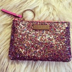 Pink glittery pouch!