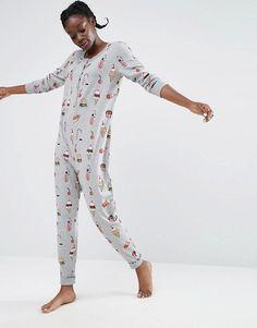 Monki | Monki Junk Food Printed Onesie .. we're due for new pajamas/ onesies