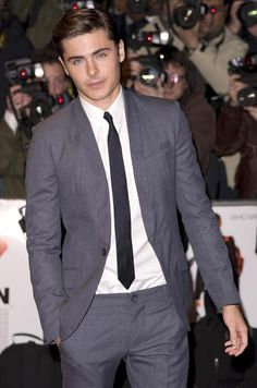 Zac Efron takes his place on my Men Folk board with this simple, classy, suit and tie