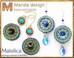Tutorial Maiolica earrings 2 variations