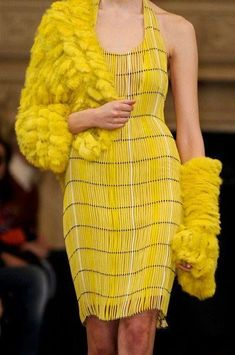 yellow dress and coat Mellow Yellow, Bright Yellow, Yellow Fever, Yellow Sun, Golden Yellow, Color Yellow, Yellow Fashion, High Fashion, Womens Fashion
