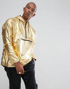 adidas Originals St Petersburg Pack Fontanka Metallic Jacket In Gold BQ2000