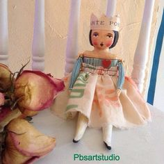 Captured heart queen .. Cloth n clay sculpture