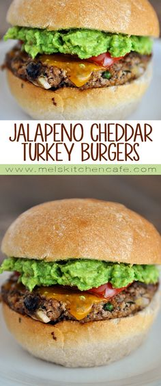 These juicy jalapeno cheddar turkey burgers are incredible.