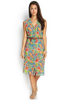 The Fl Print On This Dress Takes Us Away To A Tropical Beach Location Forever 21