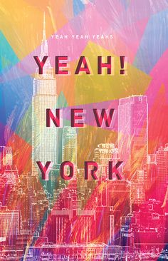 """""""Yeah! New York"""" 9 x 14 print on etsy from AndromedousPrint."""