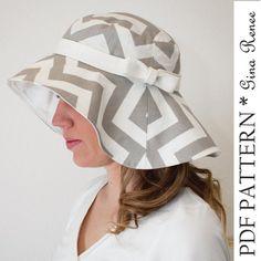 Floppy brim sun hat sewing pattern for women
