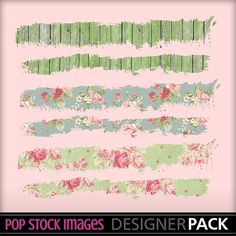 Digital Scrapbooking or Journal Tattered Page Borders - Set of 12 - Paper Trims - Grungy Paper Border - Tattered Edge - Washi Tape Border 2