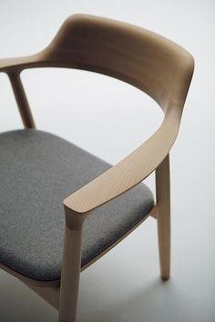 Details we like / Chair / Wood / Grey / Soft Surface / Handmade /at Hiroshima Chair I Naoto Fukasawa