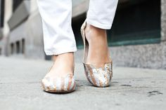 Gold and Silver sequin shoes #LOVE