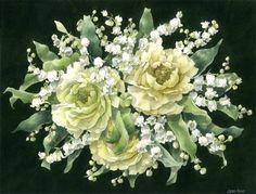 Caren Heine. Muguet & Rose Bouquet