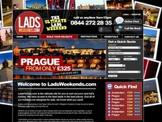 Website Design for Lads Weekends