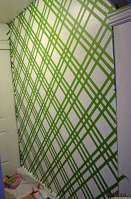 DIY Modern Wall Design With Painters Tape | Painters tape, Modern ...